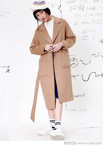 风度廓形保暖大衣