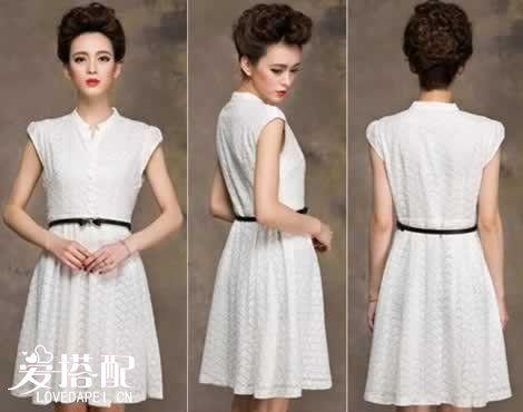 白色大摆裙